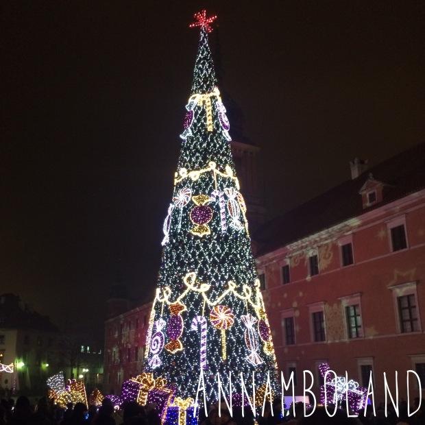 Świąteczny Plac Zamkowy w Warszawie