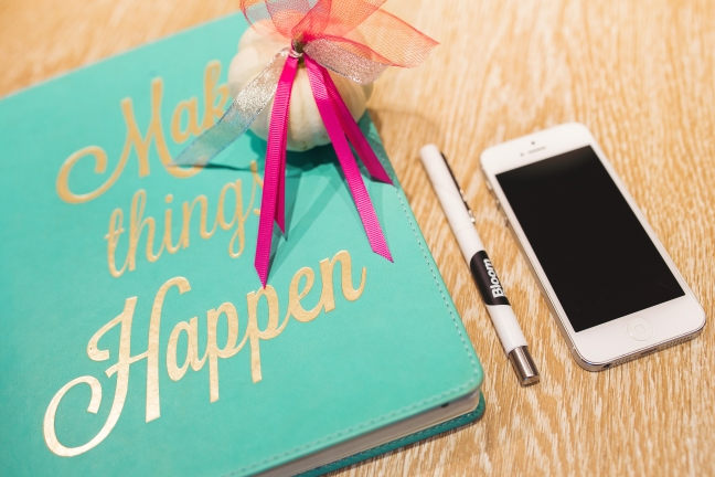 kaboompics.com_Lovely notebook, iPhone, pen and little pumpkin on the desk